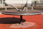 stock photo of merry-go-round  - Modern metal merry - JPG