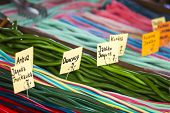 stock photo of stall  - Market stall full of candys in Poland - JPG