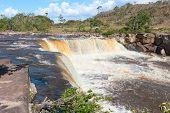 picture of canaima  - Honey waterfall in Canaima national park - JPG