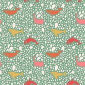 stock photo of whale-tail  - Lovely seamless pattern with stylish whales in bright colors - JPG
