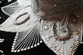 image of mexican fiesta  - sequin and decorative ornate mexican hat ready for a fiesta - JPG