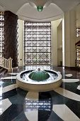 Hotel Lobby With Fountain