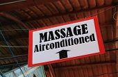 picture of thai massage  - Massage sign in Thailand - JPG