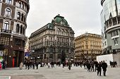 Постер, плакат: Square in Vienna city center full of people