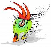 image of woodpecker  - Alternative version of the cartoon woodpecker  - JPG