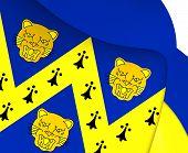 stock photo of west midlands  - 3D Flag of Shropshire England - JPG
