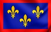 picture of anjou  - 3D Flag of Anjou France - JPG