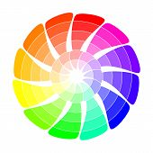 stock photo of color wheel  - Colour wheel from concentric arrows - JPG