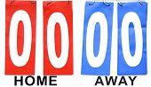 stock photo of status  - scoreboard home vs away draw zero pints status quo - JPG