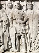 image of crusader  - Medieval Crusade Knights from the frieze of the Supreme Court - JPG