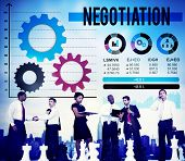 stock photo of negotiating  - Negotiation Compromise Decision Contract Benefit Concept - JPG