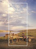 stock photo of mongolian  - Mongolian Culture Countryside Scenic Travel Concept - JPG