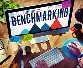 foto of benchmarking  - Benchmarking Quality Control Solution Measurement Concept - JPG