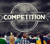 stock photo of competition  - Competition Competitive Challenge Contest Race Concept - JPG