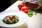 picture of vinegar  - Salad with strawberry - JPG