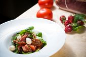 pic of vinegar  - Salad with strawberry - JPG
