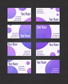picture of visitation  - Set of eight geometric visit cards with circles - JPG
