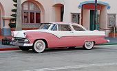 Antique Car In Pink Color