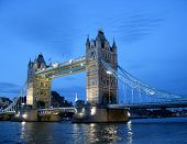 Tower Bridge, London. The Gloaming View.