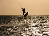 Kitesurfer  Jumping