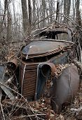 Abandonded 1930'S Sedan
