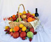 Romantic Wine Fruit Basket