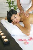 Beautiful asian woman having a massage