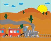 Fiery Western Usa Sunset