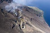 stromboli volcano activity, eolie, messina, sicily, italy