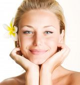 Beautiful Spa Girl Face
