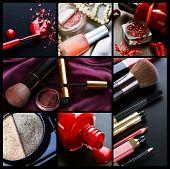 Professionele Make-up collage