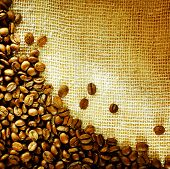 Coffee Beans Border Design