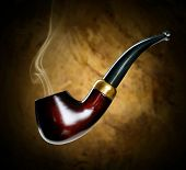 foto of tobacco-pipe  - Tobacco pipe - JPG