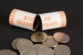 Broken Roll Of Quarters