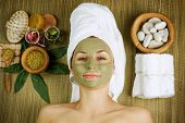 stock photo of face mask  - Spa Facial Mud Mask - JPG