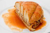 Sanduíche de carne de porco afogado