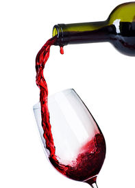 stock photo of red wine  - Red Wine Pouring - JPG