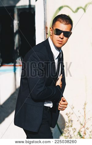 Handsome Man In Black Suit