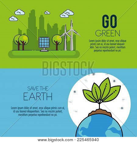 Eco Green Energy Infographic Environmentally Friendly