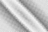 Black White Dotted Halftone Vector Background. Striped Contrast Dotted Gradient. Monochrome Halftone poster
