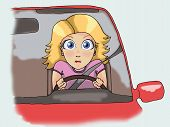 Blonde Girl Driving