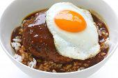 moco loco, tazón de arroz hawaiano