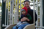 Julie  Sam At Playground