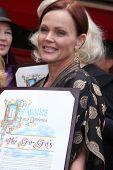Los Angeles aug 11: Belinda Carlisle während der Zeremonie für die Gogo 's Stern auf dem Hollywood Walk-o