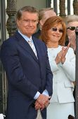 LOS ANGELES - APR 10: Regis Philbin; wife Joy at a ceremony where Regis Philbin receives the 2222th