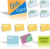 Gift Credit Debit Bank Cards.Eps