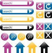 Colorful Glossy Web Buttons 2