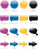 Colorful Glossy Web Icons 2