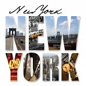 NYC-New York City-Grafik-Montage