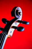 Violin Viola Scroll Isolated On Red